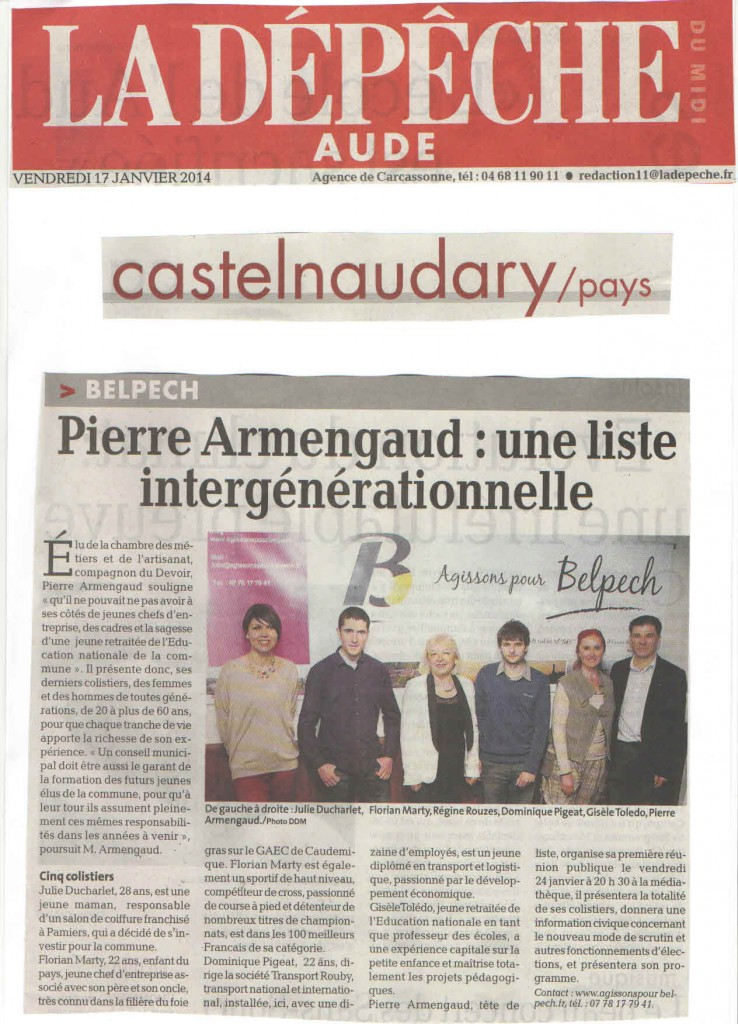 article la depeche scan
